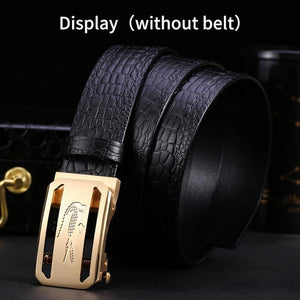 1 Fashion Luxury Solid Brass Automatic Buckles for Men's Leather Waist Belt Accessories 3.5CM