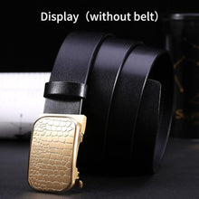 Load image into Gallery viewer, 1 Men Solid Brass Copper Automatic Buckle Designer Leather Belt Waistband Accessories 3.5CM