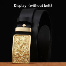 将图片加载到图库查看器,1 Men's tactical belt buckle copper material Smooth buckle body width 3.8CM High quality designers Fashion brand