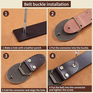 1 Men's tactical belt buckle copper material Smooth buckle body width 3.8CM High quality designers Fashion brand
