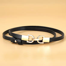 将图片加载到图库查看器,2 Genuine Leather Elastic Thin Belt for Women Stretch Waist Belt for Dress Adjustable Female Belts Accessories
