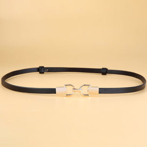 2 Genuine Leather Elastic Thin Belt for Women Stretch Waist Belt for Dress Adjustable Female Belts Accessories
