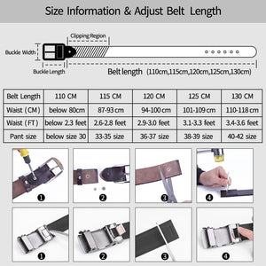 4 Men's Belt Cow Leather Belts Luxury Men Automatic Buckle Genuine Leather Strap Waistband Belts For Men 3.5cm