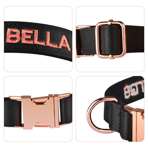91 Personalized Basic Dog Collar Solid Collar Custom Embroidered Puppy Collars Male Female Customized Pet Collar for All Season