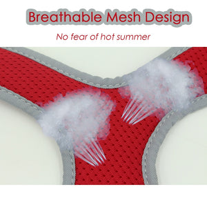 8.2 1Breathable Dog Harness for Summer With Leash No Pull Harnesses for Small/Medium Dogs Puppies Reflective at Night Pet Products