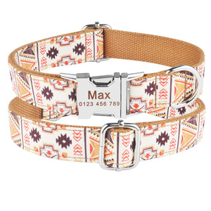 91 AiruiDog Personalized Dog Collar Free Engraved Puppy Pet Name Number on Buckle Tag XS-L