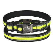 Load image into Gallery viewer, 95 Reflective Personalized Dog Collar Adjustable Padded Custom Engraved ID Name S-L
