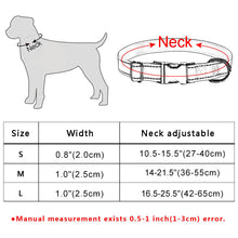 将图片加载到图库查看器,95 Reflective Personalized Dog Collar Adjustable Padded Custom Engraved ID Name S-L
