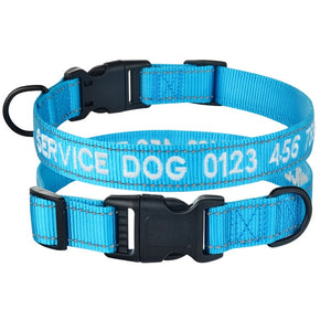 95 Embroidered Personalized Dog Collar Reflective Adjustable Nylon Pet Puppy Name