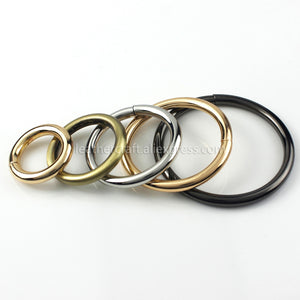 LEATHERCRAFT 1 x Solid Metal Open-end O Ring Belt Buckle Leather Craft Garment Bag Strap Hardware accessories More Sizes 4.8mm Thickness