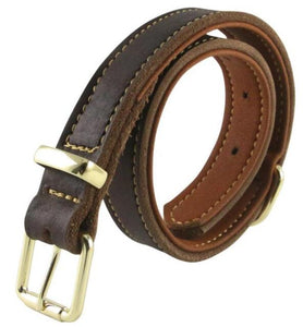 8 Double Thicken Genuine Leather Dog Necklace Strong Pet Collars with Alloy Buckle For Medium Large Dogs Husky Golden Retriever