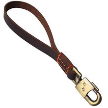 将图片加载到图库查看器,8 Genuine Leather Dog Short Leash Training Traffic Lead Leash for Medium Large Dogs Professional Heavy Duty Walking Lead Dog Chain