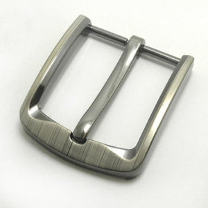 02 1pcs Metal 40mm Laser Belt Buckle Middle Center Half Bar Buckle Leather Belt Bridle Halter Harness Fit for 37mm-39mm belt