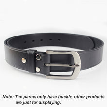 Load image into Gallery viewer, 02 40mm Metal Belt Buckle Brushed Men's End bar Buckle Single Pin Belt Half Buckle Leather Craft Jeans Belt Webbing Accessories