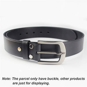 02 40mm Metal Belt Buckle Brushed Men's End bar Buckle Single Pin Belt Half Buckle Leather Craft Jeans Belt Webbing Accessories