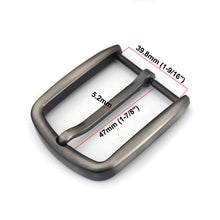 Load image into Gallery viewer, 02 1pcs  Men Belt Buckle 40mm Metal Pin Buckle Fashion Jeans Waistband Buckles For 37mm-39mm Belt DIY Leather Craft Accessories