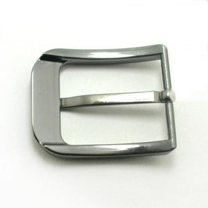02 1pcs Metal 40mm Belt Buckle Middle Center Half Bar Buckle Leather Belt Bridle Halter Harness belt Accessories Fit for 37mm-39mm