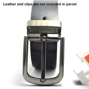 02 1pcs Metal 40mm Brushed Belt Buckle Middle Center Half Bar Buckle Leather Belt Bridle Halter Harness Fit for 37mm-39mm belt