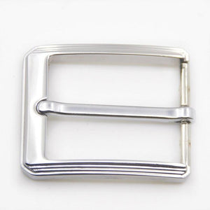 02 1pcs Metal 35mm Brushed Belt Buckle Middle Center Half Bar Buckle Leather Belt Bridle Halter Harness Fit for 33mm belt