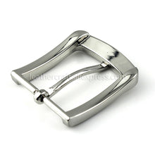 将图片加载到图库查看器,6 1x 35mm Silver Belt Buckle Metal Brushed Men Women End Bar Single Pin Belt Half Buckle for Leather Craft Strap Belt