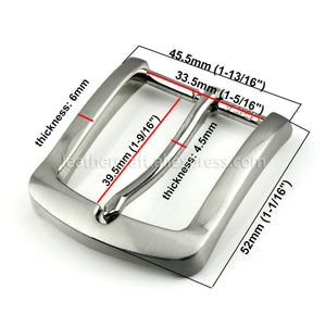 6 1x 35mm Silver Belt Buckle Metal Brushed Men Women End Bar Single Pin Belt Half Buckle for Leather Craft Strap Belt