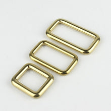 将图片加载到图库查看器,7.1 Solid brass square ring buckles cast seamless rectangle rings leather craft bag strap buckle garment belt luggage purse DIY