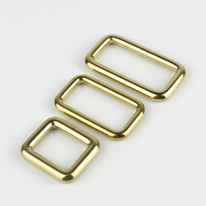 7.1 Solid brass square ring buckles cast seamless rectangle rings leather craft bag strap buckle garment belt luggage purse DIY