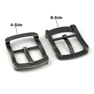 6 1pcs Metal Brushed Belt Buckle Men Center Bar Single Pin Buckle Fit for 37-39mm Belt Leather Craft Accessory
