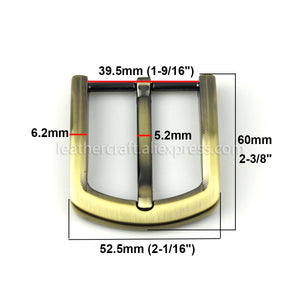 6 1x 40mm Metal Brushed Belt Buckle Men End Bar Heel bar Single Pin Half Buckle Fit for 37-39mm Belt Replacement Jeans Accessories