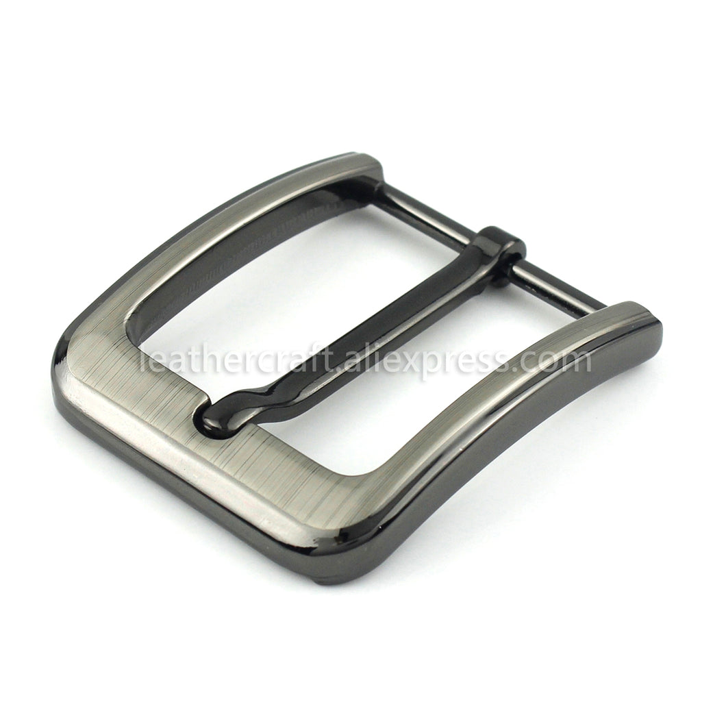 6 1pcs 40mm Fashion Men Belt Buckles Metal Brushed Single Pin End Bar Buckles Fit for 37mm-39mm Belt Leather Craft Jeans Parts