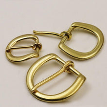 Load image into Gallery viewer, 7.1 1 x Solid brass Heel bar buckle end bar belt half buckle single pin for leather craft bag belt strap webbing clasps