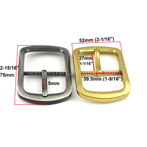 1x Metal Belt Buckle Center Bar Single Pin Buckle Men's Fashion Belt Buckle 2 Colors for 37-39mm Belt Leather Craft Accessories
