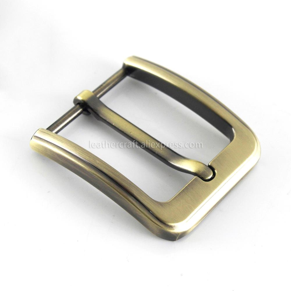 6 1x Metal 40mm Brushed Belt Buckle Middle Center Half Bar Buckle Leather Belt Bridle Halter Harness Fit for 37mm-39mm belt Bronze