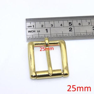 7.1 Brass Belt Roller Buckle End Bar Heel bar Buckle Single Pin Half Belt Buckle Leather Craft Bag Strap Jeans Webbing Dog Collar