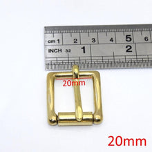 Load image into Gallery viewer, 7.1 Brass Belt Roller Buckle End Bar Heel bar Buckle Single Pin Half Belt Buckle Leather Craft Bag Strap Jeans Webbing Dog Collar