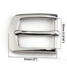 将图片加载到图库查看器,6 1pcs Metal 3cm Belt Buckle Casual Silver End Bar Heel bar Single Pin Belt Buckle Leather Craft Webbing fit for 27-29mm belt