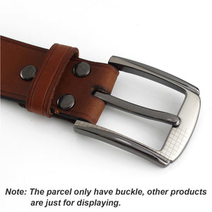 6 1pcs Metal 40mm Belt Buckle Middle Center Half Bar Buckle Leather Belt Bridle Halter Harness belt Accessories Fit for 37mm-39mm