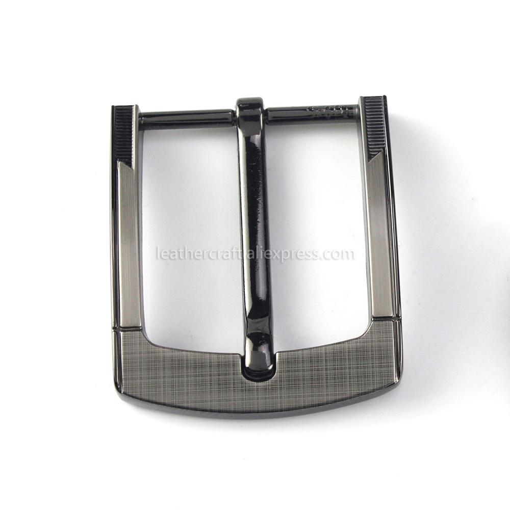 6 1pcs Metal 40mm Laser Belt Buckle Middle Center Half Bar Buckle Leather Belt Bridle Halter Harness Fit for 37mm-39mm belt
