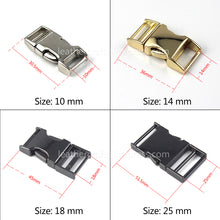 Load image into Gallery viewer, 6 1pcs Metal Backpack strap Buckle Quick Side Release Buckle for bag luggage outdoor backpack strap belt webbing Lether Craft DIY