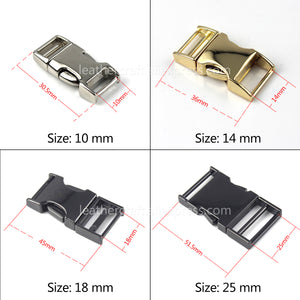 6 1pcs Metal Backpack strap Buckle Quick Side Release Buckle for bag luggage outdoor backpack strap belt webbing Lether Craft DIY
