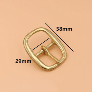 Z9 Brass Tri Glide Belt Buckle Middle Center Bar Buckle Single Pin Oval for Leather Craft Bag Strap Horse Bridle Halter Harness