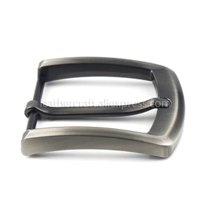 6 1x 40mm Men Belt Buckles Brushed Metal Fashion End Bar Single Pin Buckles Fit for 37mm-39mm Belt Leather Craft Parts