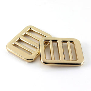 6 1pcs Metal 3 Bar Heavy-duty Buckle for Webbing Backpack Bag Parts Leather Craft Strap Belt Purse Pet Collar Clasp High Quality