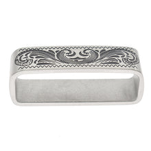 将图片加载到图库查看器,7 She Love 40mm Vintage Metal Belt Buckle Metal Solid Stainless Steel Feather Loop Keeper Jeans Belt Diy Sewing Accessories