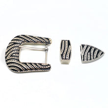 Load image into Gallery viewer, 7 32mm 40mm metal belt buckle high quality carved stripe 3 pcs/set Pin Buckles leather craft for women men's belt Jeans Decoration