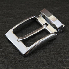 "将图片加载到图库查看器,Men's 1 1/2"" (38 mm) Single Prong pin Belt Buckle Metal Clip Buckle For Leather Belt Accessories gunmetal & silver"