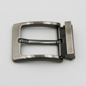 "Men's 1 1/2"" (38 mm) Single Prong pin Belt Buckle Metal Clip Buckle For Leather Belt Accessories gunmetal & silver"