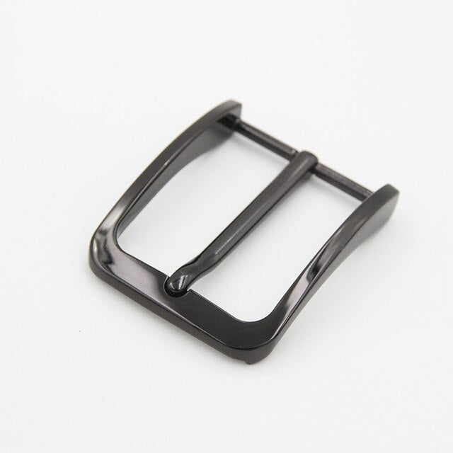 40mm Men's Belt Buckles Pin Buckle for 38-39mm DIY accessories Brushed Metal Nickel Free Single Prong Belt Buckle
