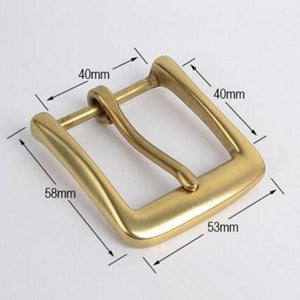 7.1 High quality Solid brass pin buckle Fashion Men's Belt Buckles fit 4cm 1.57in Wide Belt Classic Mens Jeans accessories 40mm