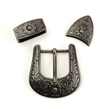 将图片加载到图库查看器,7 NEW 38mm vintage carve pattern Women Western Cowgirl Waist Belt Metal Pin Buckle DIY leather craft belt buckle antique silver